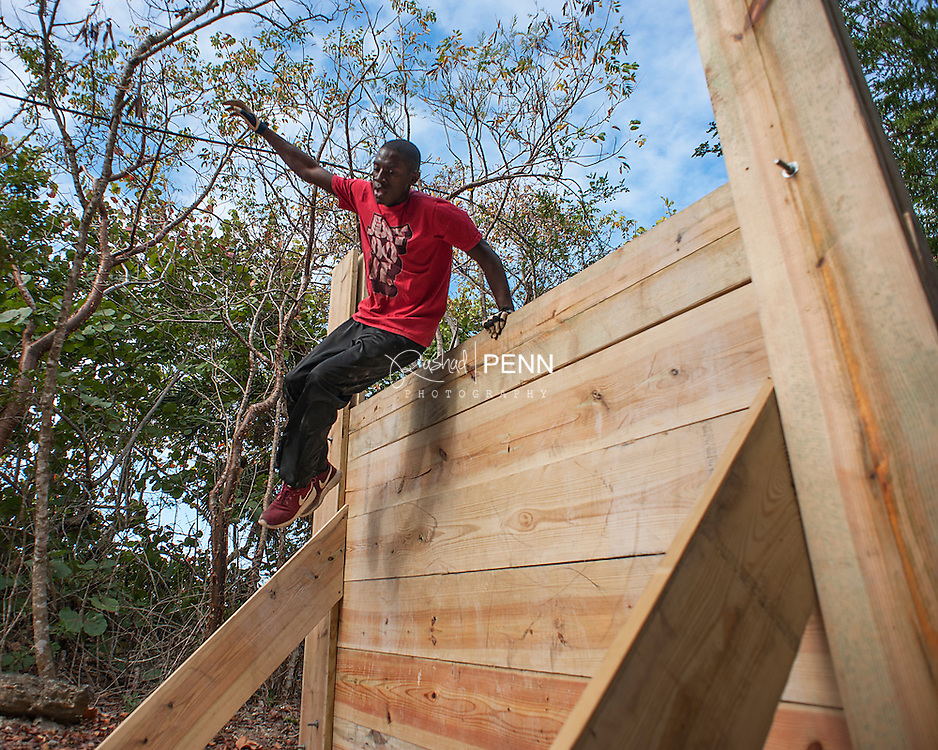 Chickcharney Challenge at Clifton Heritage Park. Jump, lift climb, pull, swim and run your way through the obstacle course designed by Chickcharney Chirren.