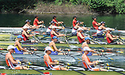 Lucerne, Switzerland, GBR  W4X, Bow Annie VERNON, Beth RODFORD, Anna WATKINS [BEBINGTON] and katherine GRAINGER. move away from the start. during the FISA World Cup at the Lucerne, Rotsee Regatta Course 12:06:17   Friday  09/07/2010.  [Mandatory Credit Peter Spurrier/ Intersport Images]
