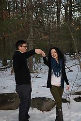 Dancing engagement photo