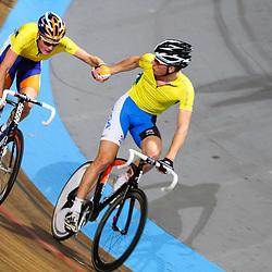 Dylan van Baarle en Michael Vingerling werden tweede op het NK koppelkoers