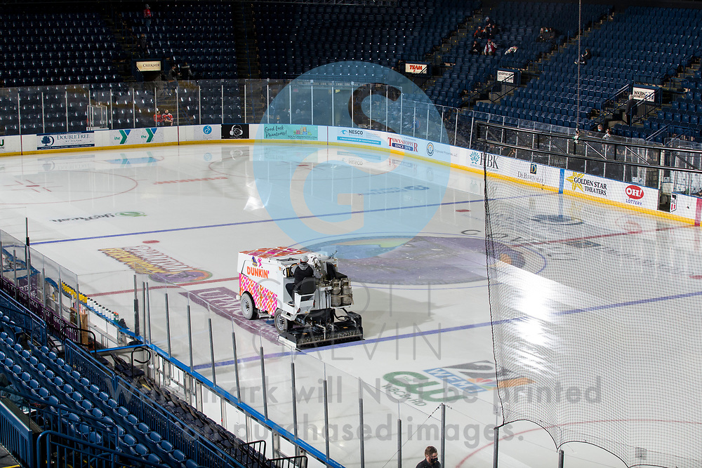 The Youngstown Phantoms defeat the Chicago Steel 5-2 at the Covelli Centre on January 23, 2021.<br /> <br /> Zamboni