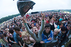 Fans at the main stage..Saturday at Rockness 2012..©Michael Schofield..