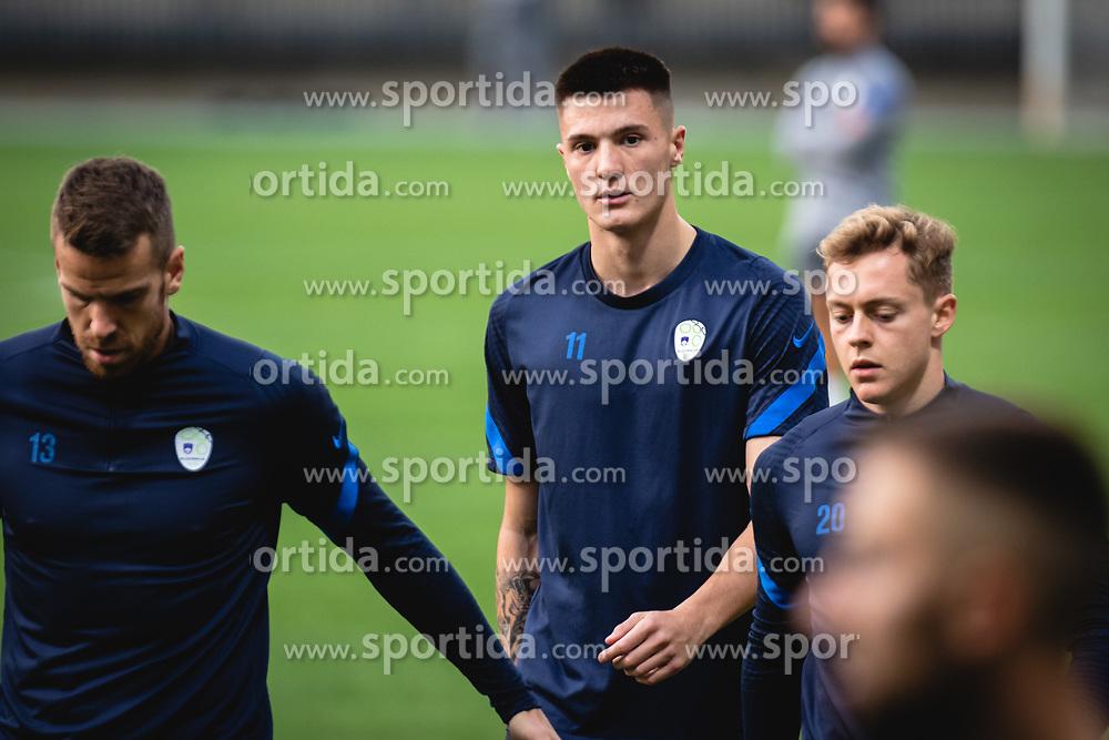 Benjamin Sesko during practice session of Slovenian national team prior to world cup 2022 qualifiers, on 5 of October, 2021 in Ljudski Vrt, Maribor, Slovenia. Photo by Blaž Weindorfer / Sportida