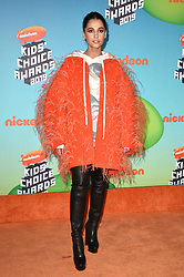 Naomi Scott attends Nickelodeon's 2019 Kids' Choice Awards at Galen Center on March 23, 2019 in Los Angeles, CA, USA. Photo by Lionel Hahn/ABACAPRESS.COM