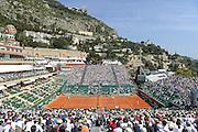 © Filippo Alfero<br /> Monte-Carlo Tennis Masters 2014<br /> Monaco, 15/04/2014<br /> sport tennis<br /> Nella foto: vista generale del campo centrale