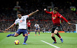 Bournemouth's Jordon Ibe (left) and Manchester United's Victor Lindelof battle for the ball