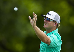 May 24, 2018 - Fort Worth, TX, USA - FORT WORTH, TX - MAY 24, 2018 - Charley Hoffman is the leader at midday during the first round of the 2018 Fort Worth Invitational PGA at Colonial Country Club in Fort Worth, Texas (Credit Image: © Erich Schlegel via ZUMA Wire)