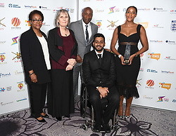 Christ Hughton wins England Athletics Coach of the Year at the third Lycamobile British Ethnic Diversity Sports Awards BEDSAs, held at the Park Lane Hilton Hotel, London