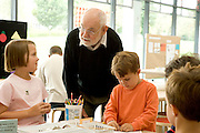 children book illustrator and artist Eric Carle in the Eric Carle museum 2006