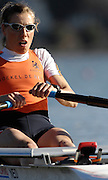 Seville. SPAIN, 18.02.2007, NED LW1X, Marit van EUPEN, moves away from the start pontoon during Sunday morning's  heats, at the FISA Team Cup, held on the River Guadalquiver course. [Photo Peter Spurrier/Intersport Images]    [Mandatory Credit, Peter Spurier/ Intersport Images]. , Rowing Course: Rio Guadalquiver Rowing Course, Seville, SPAIN,