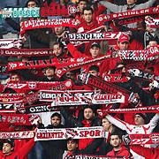Gaziantepspor's supporters during their Turkish superleague soccer match Kasimpasaspor between Gaziantepspor at the Recep Tayyip Erdogan stadium in Istanbul Turkey on Sunday 23 January 2011. Photo by TURKPIX