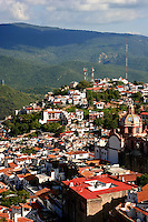 """Taxco Red Roofs - Taxco de Alarcon (usually referred to as simply """"Taxco"""") is a small city located in the Mexican state of Guerrero. The name Taxco is most likely derived from the Nahuatl word tlacheco which means """"place of the ballgame."""""""