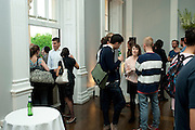 Pablo Bronstein, Sketches for Regency Living. Private view. ICA. The Mall. London. 8 June 2011. <br /> <br />  , -DO NOT ARCHIVE-© Copyright Photograph by Dafydd Jones. 248 Clapham Rd. London SW9 0PZ. Tel 0207 820 0771. www.dafjones.com.