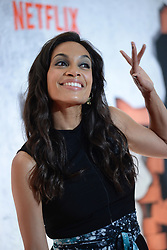 July 31, 2017 - New York, NY, USA - July 31, 2017  New York City..Rosario Dawson attending Marvel's 'The Defenders' TV show premiere on July 31, 2017 in New York City. (Credit Image: © Kristin Callahan/Ace Pictures via ZUMA Press)