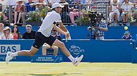 Tennis - 2017 Aegon Championships [Queen's Club Championship] - Day Three, Wednesday<br /> <br /> Men's Singles, Round of 16 - Grigor Dimitrov (BUL) vs Julien Benneteau (FRA)<br /> <br /> Julien Benneteau (FRA) rushes into the net to reach a drop shot from his opponent at Queens Club<br /> <br /> COLORSPORT/DANIEL BEARHAM