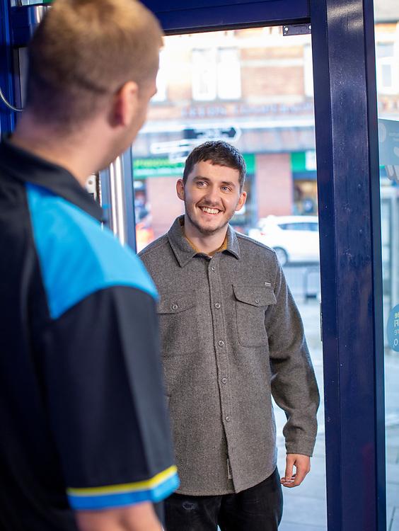 01/12/20 Armley Leeds UK - William Hill Retail store Dec 2020 William Hill bookmaker retail premises in Leeds with people enjoying betting