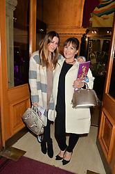 Left to right, ALANA PHILLIPS and her mother ARLENE PHILLIPS at the Cirque Du Soleil's VIP performance of Kooza at The Royal Albert Hall, London on 6th January 2015.