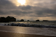 Dark light on the Grand Plage, Biarritz, France