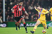 Bournemouth forward Joshua King (17), Crystal Palace midfielder James McArthur (18) during the Premier League match between Bournemouth and Crystal Palace at the Vitality Stadium, Bournemouth, England on 31 January 2017. Photo by Sebastian Frej.