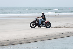Hollywood on his Harley-Davidson Knucklehead at TROG (The Race Of Gentlemen). Wildwood, NJ. USA. Saturday June 9, 2018. Photography ©2018 Michael Lichter.