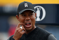 USA's Tiger Woods on the 17th tee during day two of The Open Championship 2018 at Carnoustie Golf Links, Angus. PRESS ASSOCIATION Photo. Picture date: Friday July 20, 2018. See PA story GOLF Open. Photo credit should read: Jane Barlow/PA Wire. RESTRICTIONS: Editorial use only. No commercial use. Still image use only. The Open Championship logo and clear link to The Open website (TheOpen.com) to be included on website publishing.