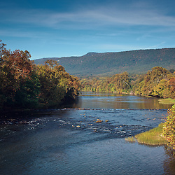 A view of the South Fork of the Shenandoah River near highway 340 and Luray.