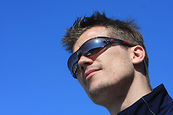 Marcel Rodman of Slovenian National Team at whale watching boat when some guys  were celebrating an anniversary of playing for Slovenian National Team for 100 (120) times, during IIHF WC 2008 in Halifax,  on May 07, 2008, sea at Halifax, Nova Scotia,Canada.(Photo by Vid Ponikvar / Sportal Images)