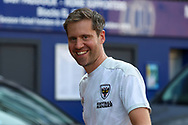 AFC Wimbledon Kitman Robin Bedford arriving for the game during the EFL Sky Bet League 1 match between AFC Wimbledon and Plymouth Argyle at the Kiyan Prince Foundation Stadium, London, England on 19 September 2020.