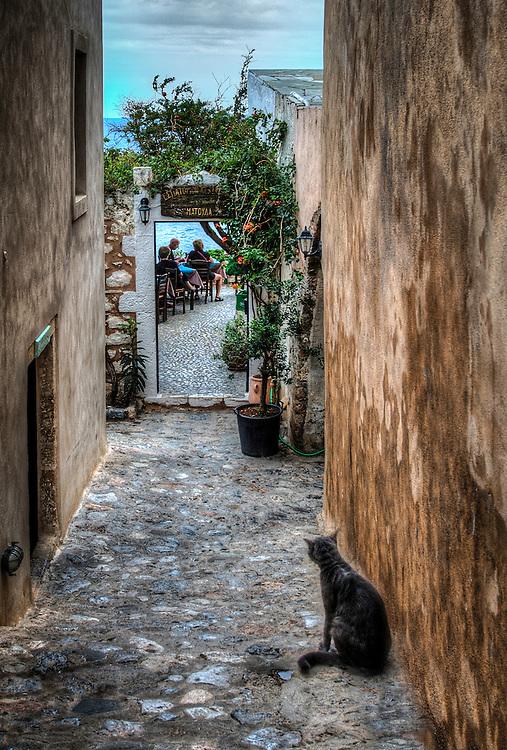 The Cat in the Alley, Monemvasia