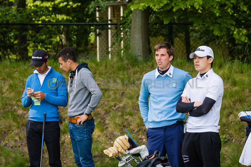17-05-2015 NGF Competitie 2015, Hoofdklasse Heren - Dames Standaard - Finale, Golfsocieteit De Lage Vuursche, Den Dolder, Nederland. 17 mei. Heren Houtrak: Igor Mandjes tijdens de singles.