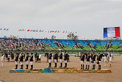 Podium Teams<br /> Team France, Gold medal, Laghouag Karim, Lemoine Mathieu, Nicolas Astier, Vallette Thibaut, FRA<br /> Team Germany, Silver medal, Auffarth Sandra, Jung Michael, Klimke Ingrid, Krajewski Julia, GER<br /> Team Australia, Bronze medal, Burton Christopher, Griffits Sam, Tinney Stuart, AUS<br /> Olympic Games Rio 2016<br /> © Hippo Foto - Dirk Caremans<br /> 09/08/16