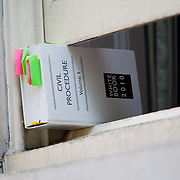Civil Procedure law book in the Temple, London
