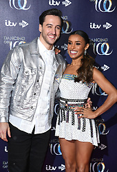Melody Thornton (right) and Alexander Demetriou attending the Dancing on Ice launch held at the Natural History Museum, London. Photo credit should read: Doug Peters/EMPICS