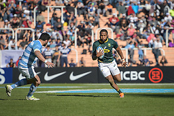 August 25, 2018. Malvinas Argentinas Stadium, Mendoza, Argentina. LUKHANYO AM running with the ball during first half of the match.
