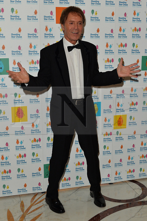 © Licensed to London News Pictures. 30/09/2017. London, UK. SIR CLIFF RICHARD attends The Shooting Stars Chase Ball at the Dorchester Hotel. The leading children's hospice cares for babies, children and young people with life-limiting conditions, and their families. The Ball is the charity's flagship event and hopes to raise in excess of £100,000 to provide nursing, medical and emotional support to families going through unimaginable circumstances. Photo credit: Ray Tang/LNP