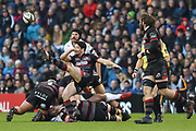 Sam Hidalgo-Clyne kicks during the Guinness Pro 14 2017_18 match between Edinburgh Rugby and Glasgow Warriors at Myreside Stadium, Edinburgh, Scotland on 28 April 2018. Picture by Kevin Murray.