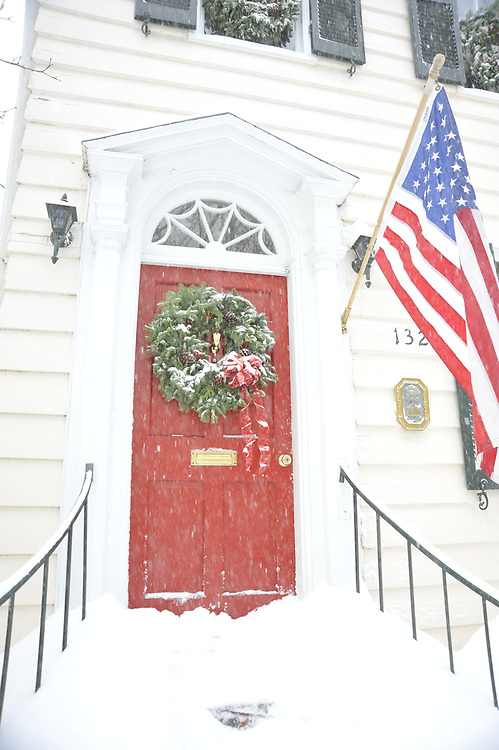 Annapolis Maryland Doorway after blizzard