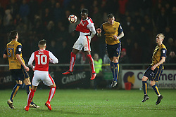 Devante Cole of Fleetwood Town and Aden Flint of Bristol City - Mandatory by-line: Matt McNulty/JMP - 17/01/2017 - FOOTBALL - Highbury Stadium - Fleetwood,  - Fleetwood Town v Bristol City - Emirates FA Cup Third Round Replay