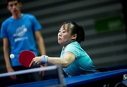Qian LI of China plays final match during Day 4 of SPINT 2018 - World Para Table Tennis Championships, on October 20, 2018, in Arena Zlatorog, Celje, Slovenia. Photo by Vid Ponikvar / Sportida