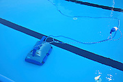 Outdoor Swimming pool Robot cleans the pool