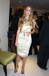 MISS FLORENCE BRUDENELL-BRUCE at the UK launch of Tarun Tahiliani Design in association with the British Luxury Council held at The Knightsbridge, London SW7 on 10th March 2005.<br />