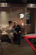HELEN MCCRORY; NICKY HASLAM Nicky Haslam hosts dinner at  Gigi's for Leslie Caron. 22 Woodstock St. London. W1C 2AR. 25 March 2015