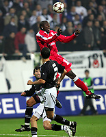 Fotball<br /> UEFA-cup 2004/05<br /> Besiktas v Standard Liege<br /> 1. desember 2004<br /> Foto: Digitalsport<br /> NORWAY ONLY<br /> SAMBEGOU BANGOURA /