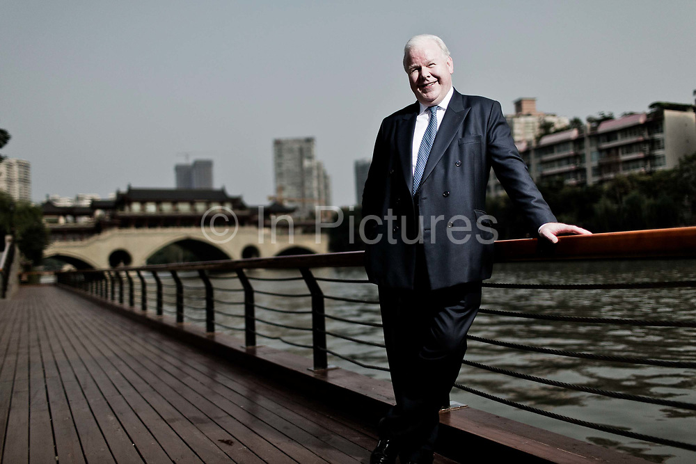 Michael Smith, Chief Executive Officer of Australia and New Zealand Banking Group Limited (ANZ), Stands for a portrait on the sidelines of the Fortune Global Forum in Chengdu, Sichuan Province, China on 06 June 2013.