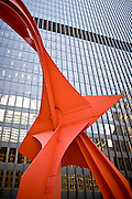 The Calder sculpture in Chicago's Federal Plaza