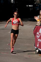 Jen Rhines in homestretch of women's marathon