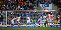 GOAL - Stoke City's Peter Crouch scores his sides first goal  <br /> <br /> Photographer Kevin Barnes/CameraSport<br /> <br /> Football - The FA Cup Fifth Round - Blackburn Rovers v Stoke City - Saturday 14th February 2015 -  Ewood Park - Blackburn<br /> <br /> © CameraSport - 43 Linden Ave. Countesthorpe. Leicester. England. LE8 5PG - Tel: +44 (0) 116 277 4147 - admin@camerasport.com - www.camerasport.com