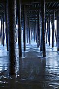 Under pier at Pismo Beach