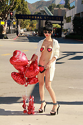 """Bai Ling, Sexy Valentine's Studio Tour, where she says """"It's a pity I'm not in Fifty Shades of Grey,"""" Cinerama Dome, Paramount, Warner Bros, Universal Studios, Los Angeles, CA 02-13-15. EXPA Pictures © 2015, PhotoCredit: EXPA/ Photoshot/ Martin Sloan<br /> <br /> *****ATTENTION - for AUT, SLO, CRO, SRB, BIH, MAZ only*****"""