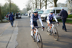 Letizia Paternoster (ITA) makes her way to sign on at Gent Wevelgem - Elite Women 2019, a 136.9 km road race from Ieper to Wevelgem, Belgium on March 31, 2019. Photo by Sean Robinson/velofocus.com